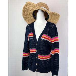 Juicy Couture Navy Striped Cardigan